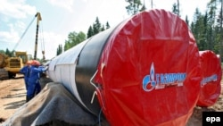 روسیه در حال حاضر با عرضه سالانه ۱۵۰ تا ۱۶۰ ميليارد متر مکعب گاز، ۳۰% از نيازهای اروپا را تامين میکند. (عکس از epa)