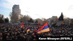 Yerevanda nümayiş