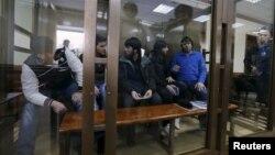 Підсудні у справі про вбивство Нємцова (архівне фото)