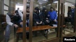 Ռուսաստան - Բորիս Նեմցովի սպանության գործով ամբաստանյալները դատարանում, Մոսկվա, 1-ը մարտի, 2016թ․