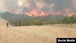 Пожар во село Војница.