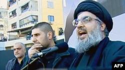 Лидер шиитской ливанской военизированной группировки «Хизбалла» Шейк Хассан Насралла. Бейрут, 6 декабря 2011 года.