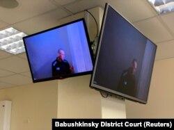 Alexei Navalnîi, audiat din penitenciar de o instanță din Moscova prin legătură video, într-o vizibilă și avansată stare de degradare - 29 aprilie 2021