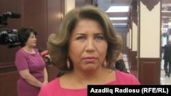 Azerbaijan -- Vicespeaker of Azerbaijani Parliament Bahar Muradova, Baku, 18Oct2011