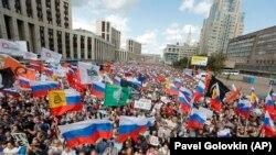 Митинг на проспекте Сахарова 20 июля