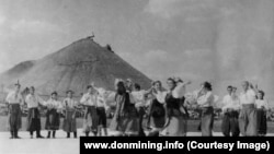 Святкування Дня шахтаря у Донецьку в 1949 році (фото з архіву видання donmining.info)