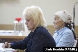Сьвятлана Коржыч у судзе