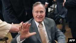 Буш-старэйшы ў Вашынгтоне ў траўні 2012 году