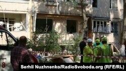На місці вибуху у житловому будинку у Києві, 26 липня 2017 року