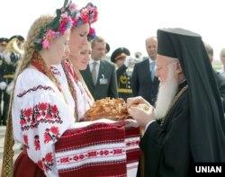 Вселенський патріарх Варфоломій I під час візиту до Києва з нагоди 1020-річчя Хрещення України-Руси, 25 липня 2008 року