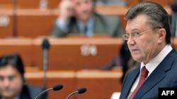 Președintele Ucrainei Ianucovici la APCE
