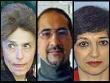 Iran/US - 3 Iranian-Americans charged with spying, 1-Haleh Esfandiari (L), Director of the Middle East Program at the Woodrow Wilson International Center for Scholars in Washington, 2-Kian Tajbaksh(C), Iranian American social scientist and urban planner,