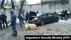 Москва. Затримання підозрюваних в спробі котрабанди наркотиків з Аргентини