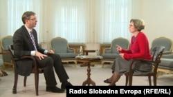 Aleksandar Vučić u razgovoru sa Sabinom Čabaravdić
