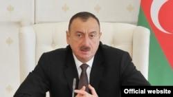 Azerbaijan - President Ilham Aliyev speaks at a cabinet meeting in Baku, 13Apr2014.