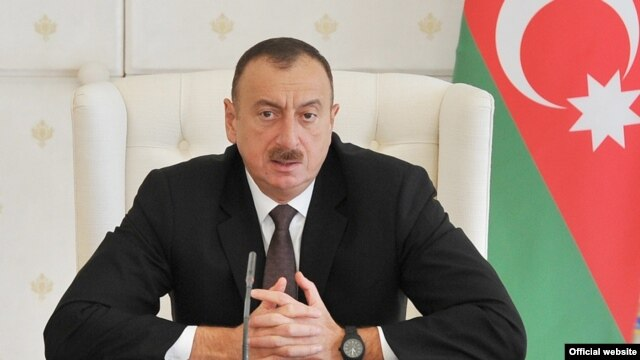 Azerbaijan - President Ilham Aliyev speaks at a cabinet meeting in Baku, 13Apr2014.
