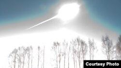 Чиләбе метеориды, Марат Әхмәтвәлиев фотосы.