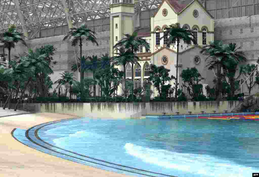 The indoor water park