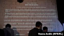 """""""Izbor više ne postoji"""", tekst Proglasa na zidovima Dorćol Platza"""