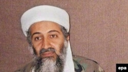 A file photo of Osama bin Laden, reportedly in Afghanistan, from 2001.