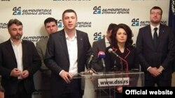 Predstavnici DSS-a i Dveri na konferenciji za novinare, novembar 2014.