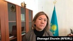 Алия Оспанова, исполняющая обязанности директора школы № 6 в Шалкаре. Актюбинская область, 28 января 2019 года.
