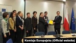 Під час зустрічі у представництві Єврокомісії у Варшаві, 27 листопада 2013 року