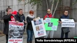 Акция в поддержку Ильдара Дадина в Нью-Йорке