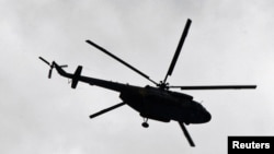 Вертолет Ми-17 в окрестностях Алматы. Иллюстративное фото.