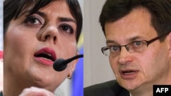 The remaining candidates for the post of EU prosecutor are Codruta Kovesi (left) and Jean-Francois Bohnert.