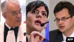 Cei trei candidați la funcția de Procuror șef European: germanul Andres Ritter, fosta șefă DNA, Laura Codruta Kovesi și freancezul Jean-Francois Bohnert,