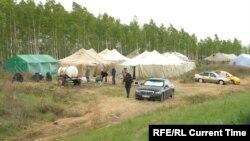 Палаточный городок в Оренбургской области. Архивное фото.