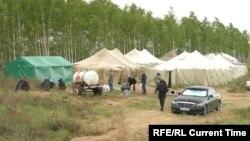 Лагеря мигрантов на границе Казахстана и России в Оренбургской области.