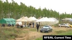 Палаточный городок в Оренбургской области.