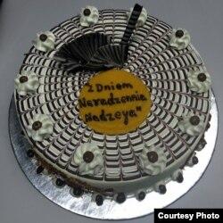 Беларускамоўны торт ад сяброў