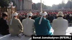 Аянттагы айт намаз. 2015-жыл. Бишкек.