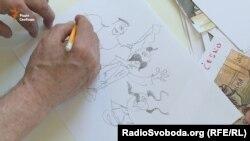 На прохання Радіо Свобода художник намалював ескізи козаків