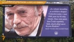 Mustafa Cəmilev Çexiya prezidentini reklam lövhələrindən tənqid edir