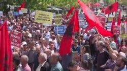 Protesta e Vetëvendosjes para Prokurorisë së Shtetit