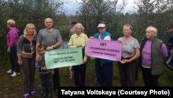 В окрестностях Петербурга дачники требуют сохранения чистой окружающй среды. 4 сентября 2016