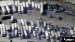 Орусиянын Коргоо министрлиги Түркия-Сирия чек арасындагы көрүнүш катары көрсөткөн сүрөт.