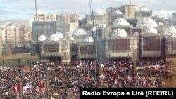 Демонстрация оппозиции на улицах Приштины