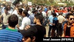 متظاهرون في بغداد يطالبون بإلغاء الرواتب التقاعدية للبرلمانيين