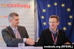 Юрась Губарэвіч і Алесь Лагвінец, 2016 год