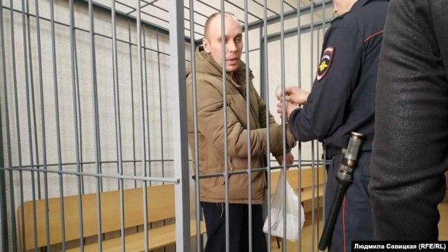 Артем Милушкин в мае 2019-го на суде по продлению ареста