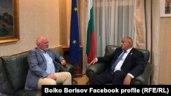 Тимерманс и Борисов късно снощи в Брюксел.