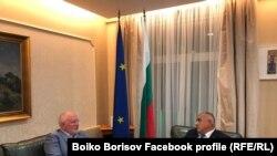 Premierul bulgar, Boyko Borisov (dreapta) și numărul 2 în Comisia Europeană