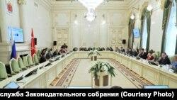 Заседание бюджетно-финансового комитета в Законодательном собрании Петербурга