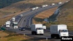 Российский гуманитарный конвой – к югу от Воронежа