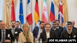 Abbas Araghchi (Center-Right), Iran's deputy foreign minister and the Secretary General of the European Union's External Action Service (EEAS) Helga Schmid (Center-Left). March 6, 2019